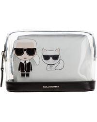 Karl Lagerfeld Beauty case viaggio porta trucchi donna k/ikonik - Nero