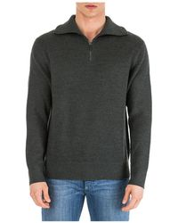Emporio Armani Men's Sweater Sweater Pullover With Zip - Green