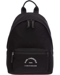 Karl Lagerfeld Women's Rucksack Backpack Travel Rue St Guillaume - Black