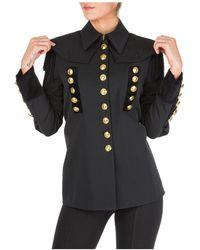 Alberta Ferretti Women's Jacket Blazer Military - Black