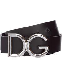Dolce & Gabbana Cintura uomo vera pelle - Nero