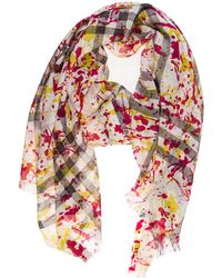 Burberry Women's Wool Scarf Splash Gauze - Natural