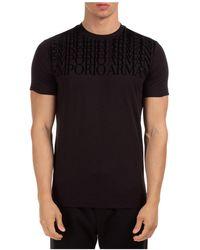 Emporio Armani T-shirt maglia maniche corte girocollo uomo - Nero