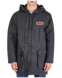 Gucci Men's Outerwear Jacket Blouson Hood - Black