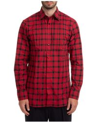 Gabriele Pasini Long Sleeve Shirt Dress Shirt - Red