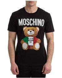 Moschino T-shirt maglia maniche corte girocollo uomo teddy bear - Nero