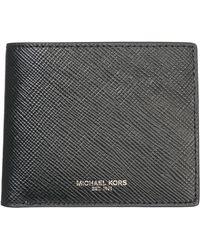 Michael Kors Men's Genuine Leather Wallet Credit Card Bifold Harrison - Black