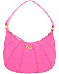 Pinko Shoulder Bag N Pelle Love - Pink