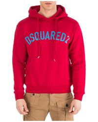 DSquared² Logo Hooded Sweatshirt - Red