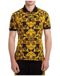 Versace Jeans Couture Polo t-shirt maglia maniche corte uomo baroque - Nero