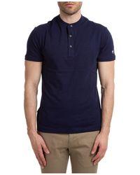 AT.P.CO Men's Short Sleeve T-shirt Crew Neckline Jumper - Blue