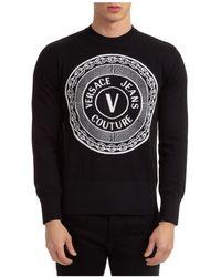 Versace Jeans Couture Men's Crew Neck Neckline Sweater Sweater Pullover - Black