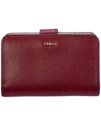 Furla Women's Wallet Genuine Leather Coin Case Holder Purse Card Babylon - Multicolour