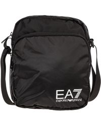 EA7 Men's Cross-body Messenger Shoulder Bag - Black