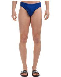 Emporio Armani Men's Brief Swimsuit Bathing Trunks Swimming Suit - Blue