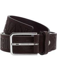 Emporio Armani Men's Genuine Leather Belt - Brown