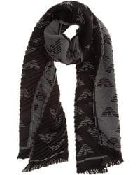 Emporio Armani Men's Scarf - Black
