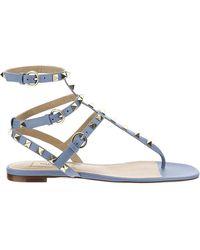 Valentino Valentino garavani sandali donna in pelle rockstud - Blu