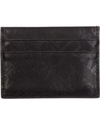 Versace Jeans Couture Men's Genuine Leather Credit Card Case Holder Wallet - Black