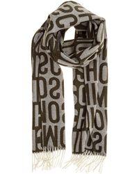 Moschino Sciarpa uomo in lana - Multicolore
