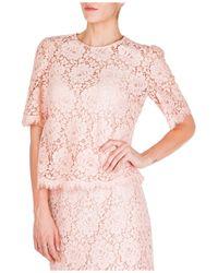 Dolce & Gabbana Top maniche corte - Rosa
