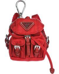 Prada Backpack Keyring - Red