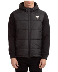 Karl Lagerfeld Men's Outerwear Jacket Blouson Hood Ikonik - Black