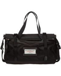 Givenchy Travel Duffle Weekend Shoulder Bag Nylon Downtown - Black