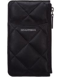 Emporio Armani Women's Credit Card Case Holder Wallet - Black