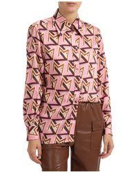 MSGM Camicia donna maniche lunghe - Rosa