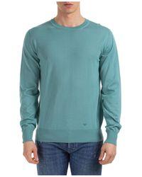 Emporio Armani - Maglione maglia uomo girocollo regular fit - Lyst