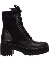 Michael Kors Women's Leather Heel'ankle Boots Booties Brea - Black
