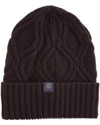 Lardini Cuffia berretto uomo in lana - Nero