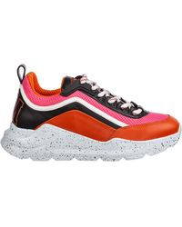 MSGM Women's Shoes Leather Trainers Trainers Hiking - Red
