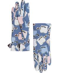 Emporio Armani Women's Leather Gloves - Blue