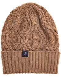 Lardini Cuffia berretto uomo in lana - Marrone