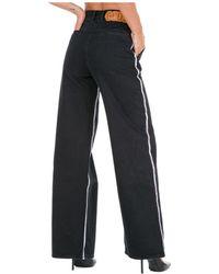 Gcds Jeans donna a palazzo - Nero
