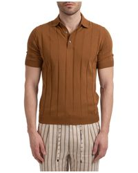Lardini Polo t-shirt maglia maniche corte uomo - Marrone