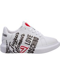 Love Moschino Women's Shoes Leather Sneakers Sneakers - Multicolour