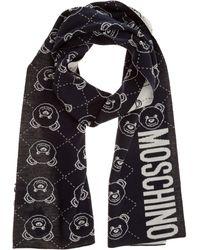Moschino Men's Scarf Teddy - Black