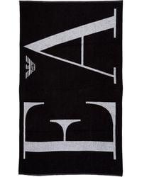 Emporio Armani Men's Beach Towel - Black