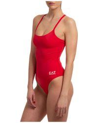 EA7 Costume da bagno intero donna mare - Rosso