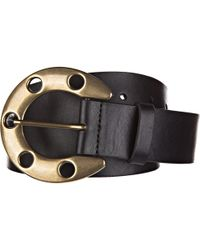 Dolce & Gabbana Men's Genuine Leather Belt - Black
