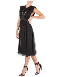 Alberta Ferretti Vestito abito donna lungo longuette senza maniche - Nero