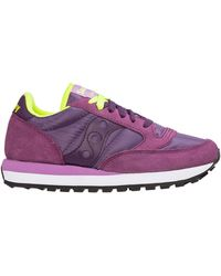 Saucony Women's Shoes Suede Trainers Trainers Jazz O - Purple