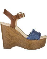 c85a43b39d5 Michael Kors - Leather Shoes Wedges Sandals Leni - Lyst