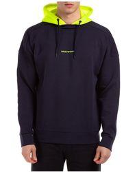 Emporio Armani Men's Hoodie Sweatshirt Sweat - Blue