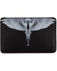 Marcelo Burlon Men's Genuine Leather Credit Card Case Holder Wallet Wings - Black