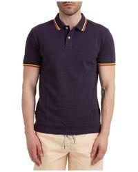 AT.P.CO Men's Short Sleeve T-shirt Polo Collar - Blue