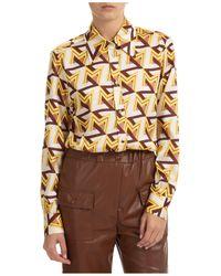 MSGM Camicia donna maniche lunghe - Multicolore